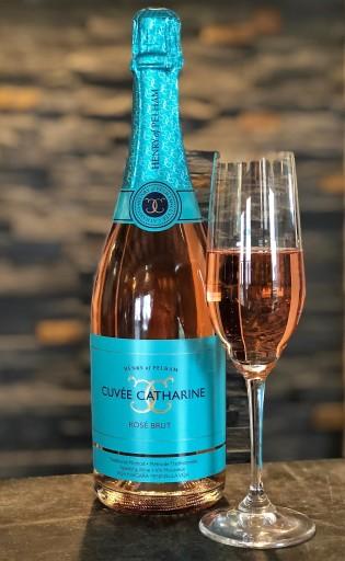 Henry of Pelham pink sparkling wine