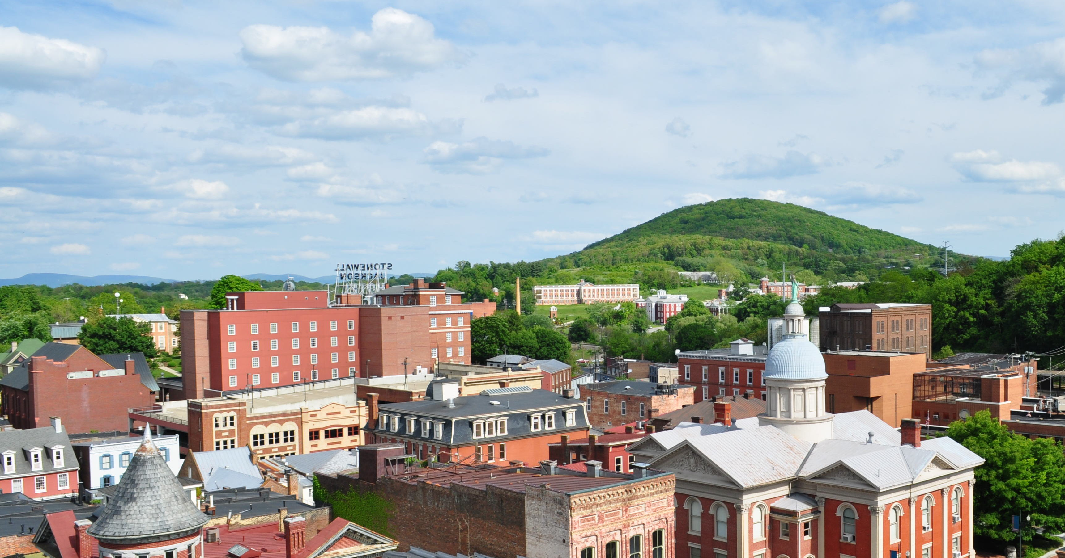 Staunton city skyline